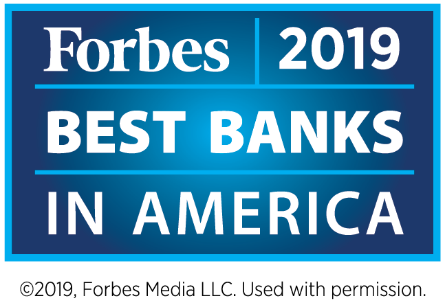Forbes Best Banks 2019 Logo